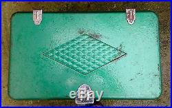 Vintage Coleman Cooler Chest Metal Diamond Logo