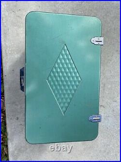 Vintage Coleman Cooler Diamond Logo (Green) Metal Handles