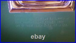 Vintage Coleman Cooler Snow Lite Metal Ice Chest 28x16x15 72 quart