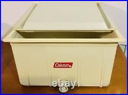 Vintage Coleman Cooler Upright Ice Chest Box Made In USA Camping Outdoor EUC
