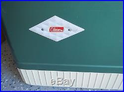 Vintage Coleman DIAMOND LOGO Metal Cooler With Small Cooler. Excellent Condition