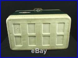 Vintage Coleman Diamond Green Ice Cooler Chest Box 22 x 15 x 13