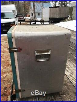 Vintage Coleman Green Diamond Metal Cooler / Bottle Openers Ice Chest