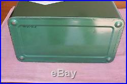 Vintage Coleman Ice Box Cooler Metal with Coleman Diamond Logo