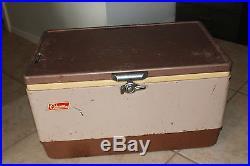 Vintage Coleman Metal Brown Tan Cooler Bottle Openers Stamped 6-57