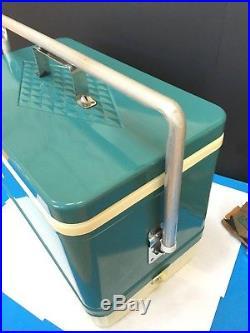 Vintage Coleman Metal Chest Cooler 1960s Retro Deco Diamond Logo Very Nice