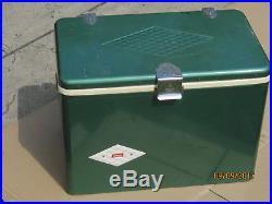 Vintage Coleman Metal Cooler Diamond Green Dual Openers