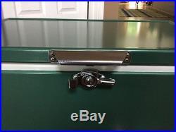 Vintage Coleman Metal Cooler Green Excellent Condition- Double Opener