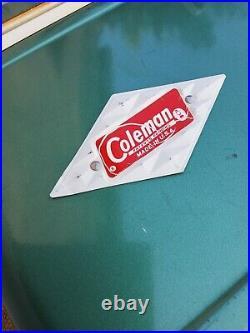 Vintage Coleman Mini Cooler Diamond Logo Series (Green)
