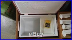 Vintage Coleman Snow-lite Metal Cooler Unused In Box