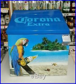 Vintage Corona Extra Metal Cooler