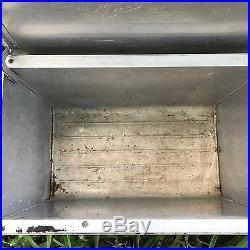 Vintage Cronstroms Western Field Large Aluminum Cooler Montgomery Ward`s