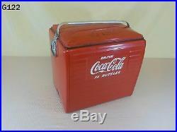 Vintage DRINK COCA COLA Metal Picnic Cooler COKE