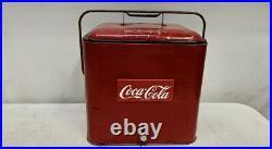 Vintage DRINK COCA-COLA Metal Picnic Cooler, Sandwich Tray Circa 1979