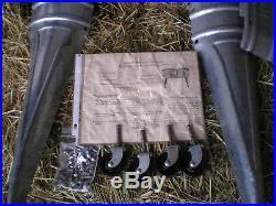 Vintage Double Basin Wash Tub Stand NOS Wheeling Galvanized Metal Planter Cooler