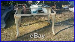Vintage Double Basin Wash Tub stand metal galvanized planter cooler stand only