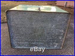 Vintage Dr Pepper Cooler Progress Refrigerator Co 1950'S Metal Green Opener Soda