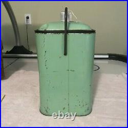 Vintage Dr Pepper Picnic All Original Metal Cooler-1950's