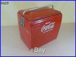 Vintage Drink Coca Cola In Bottles Coke Soda Pop Drink Metal Picnic Cooler Rare