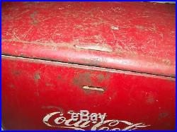 Vintage Drink Coca Cola Metal Cooler Advertising