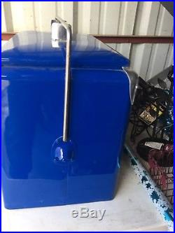 Vintage Drink Pepsi Cola Blue Metal Ice Cooler RESTORED Coca Cola Soda