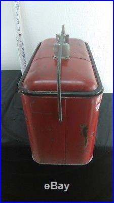 Vintage Embossed Coca Cola Metal Ice Chest