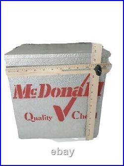 Vintage Galvanized Metal Milk Porch Cooler Box Crate Sign Antique McDonald RED