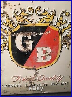 Vintage Griesedieck Bros. Embossed Good Beer Metal Cooler