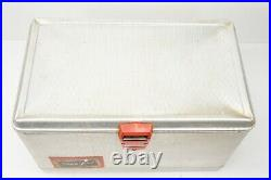 Vintage Hamilton Skotch Aluminum Metal Cooler 22 x 13 with Pick, Opener, Paper