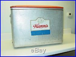 Vintage Hamm's Beer Cooler, Metal, Cronstroms Minneapolis, Bear Ad