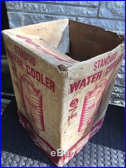 Vintage IGLOO Galvanized Metal 5 Gallon Water Cooler In Original Box FREE SHIP