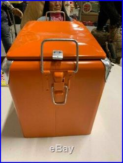 Vintage Indian Queen Root Beer Metal Soda Cooler GAS OIL SODA COLA 17x13x17 WithTr