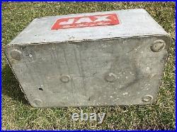 Vintage Jax Beer Metal Embossed Cooler