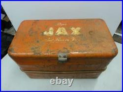 Vintage Jax Beer Metal Embossed Cooler Hamms Schlitz