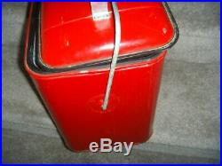 Vintage Knapp Monarch Town and Country Therm a Chest Red Metal Cooler 16 Tall