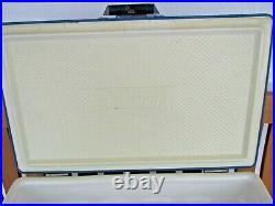 Vintage Large BLUE-WHITE Metal Coleman Cooler Original 44 Quart LOW BOY