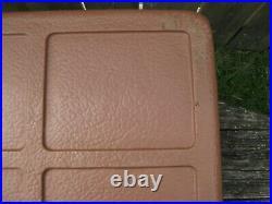 Vintage Large Brown-Tan Metal Coleman Cooler & Tray in Original 44 Quart LOW BOY
