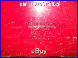 Vintage Metal 1950's Red Coca Cola Cooler with Side Bottle Opener