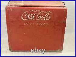 Vintage Metal Coca-Cola Cooler Cavalier Unrestored withOpener