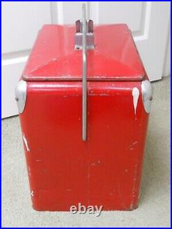 Vintage Metal Drink Coca Cola Cooler