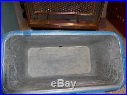 Vintage Metal Pepsi Cola ice chest/cooler-smaller version -blue