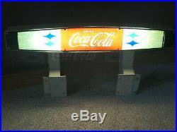 Vintage Metal Sign Light Old Coca Cola Cooler Light Coca Cola Sign Light
