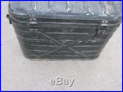 Vintage Military Cooler Metal Box has Petina