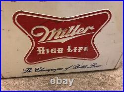 Vintage Miller High Life Beer Cooler Original Metal