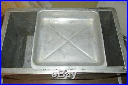 Vintage Montgomery Ward Western Field Aluminum Cooler Withtray