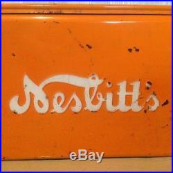 Vintage Orange Nesbitt's Soda Chest Cooler Metal Beer Retro 60's Mid Century