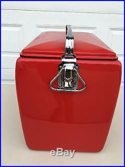 Vintage Original Metal Coca Cola Picnic Cooler