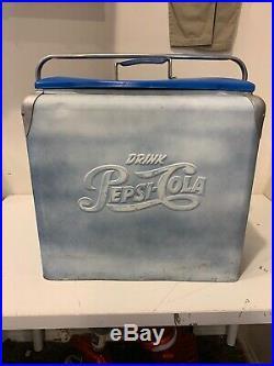 Vintage Pepsi-Cola Metal Cooler