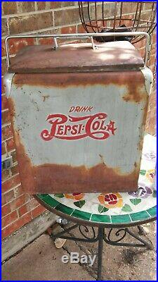 Vintage Pepsi Cola Metal Ice Chest