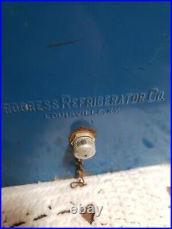 Vintage Pepsi cola cooler galvanized blue metal portable travel